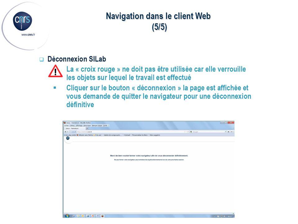 Navigation dans le client Web (5/5) (5/5)
