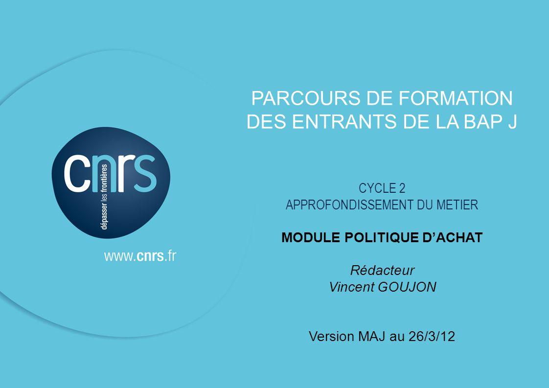 P.2 BAP J – MODULE POLITIQUE DACHAT SESSION 2009 P.