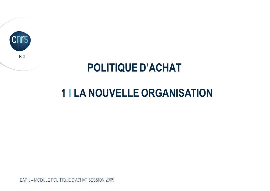 P.4 BAP J – MODULE POLITIQUE DACHAT SESSION 2009 Deux réglementations au CNRS 1.