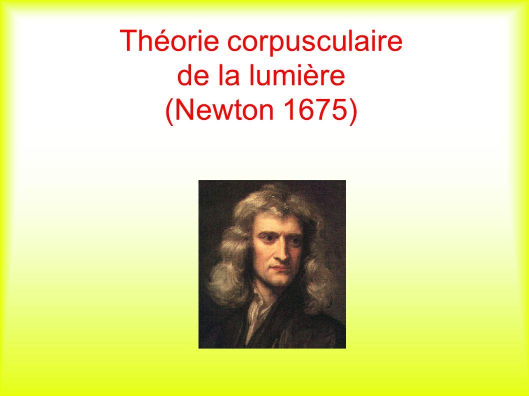 Théorie corpusculaire de la lumière (Newton 1675)