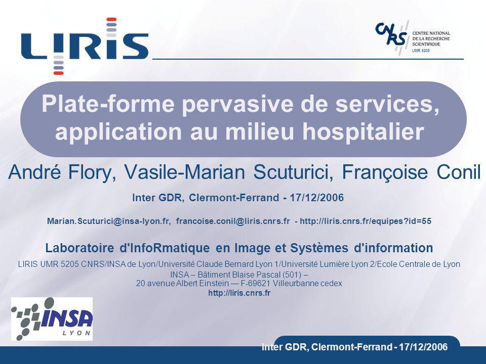 Marian.Scuturici@insa-lyon.fr, francoise.conil@liris.cnrs.fr - http://liris.cnrs.fr/equipes?id=55 Laboratoire d'InfoRmatique en Image et Systèmes d'in