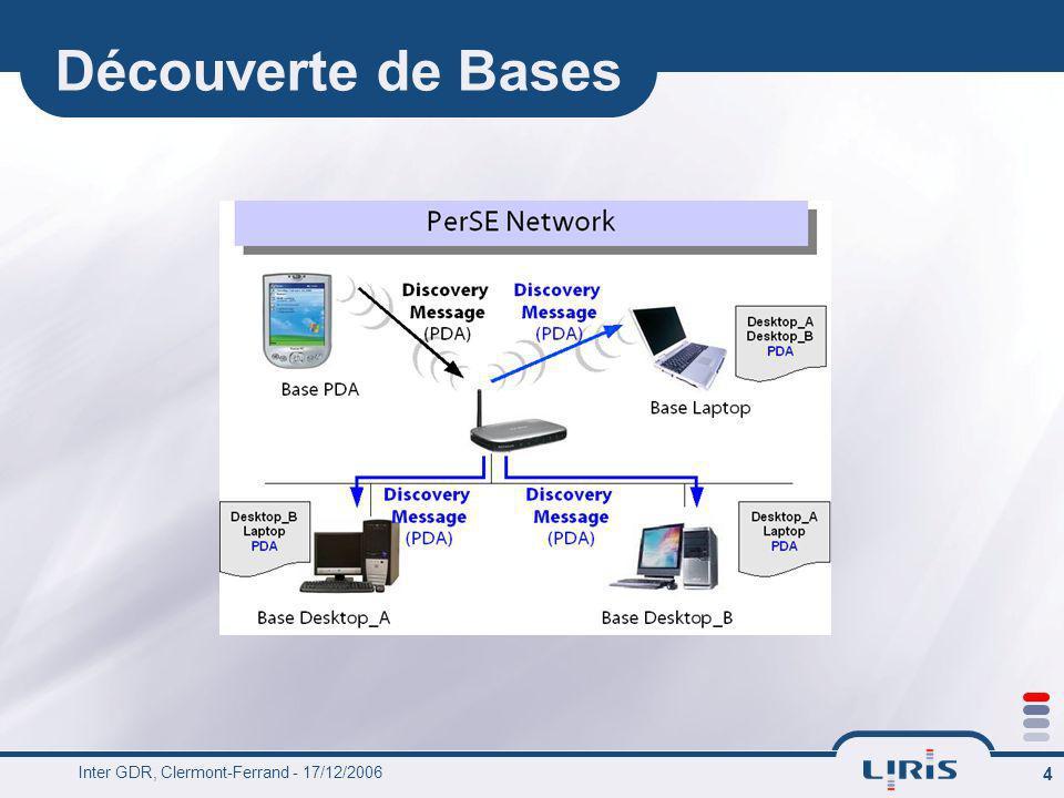 Inter GDR, Clermont-Ferrand - 17/12/2006 4 Découverte de Bases