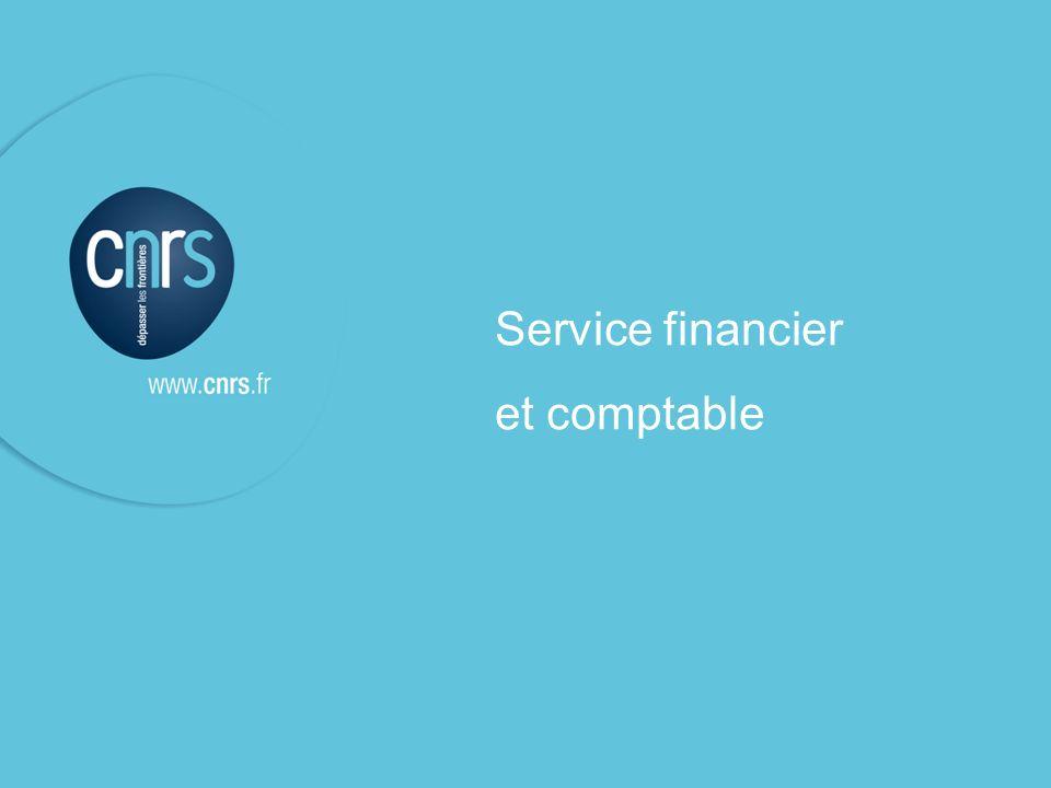 P. 1 Jacques Cavaillé l Service financier et comptable Service financier et comptable