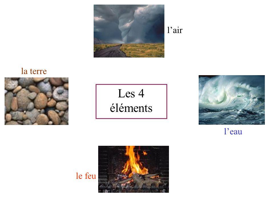 leau le feu la terre lair Les 4 éléments