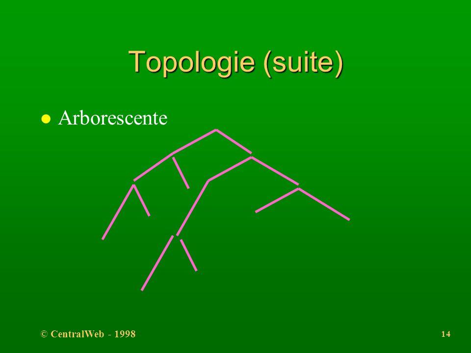 © CentralWeb - 1998 13 Topologie l Linéaire