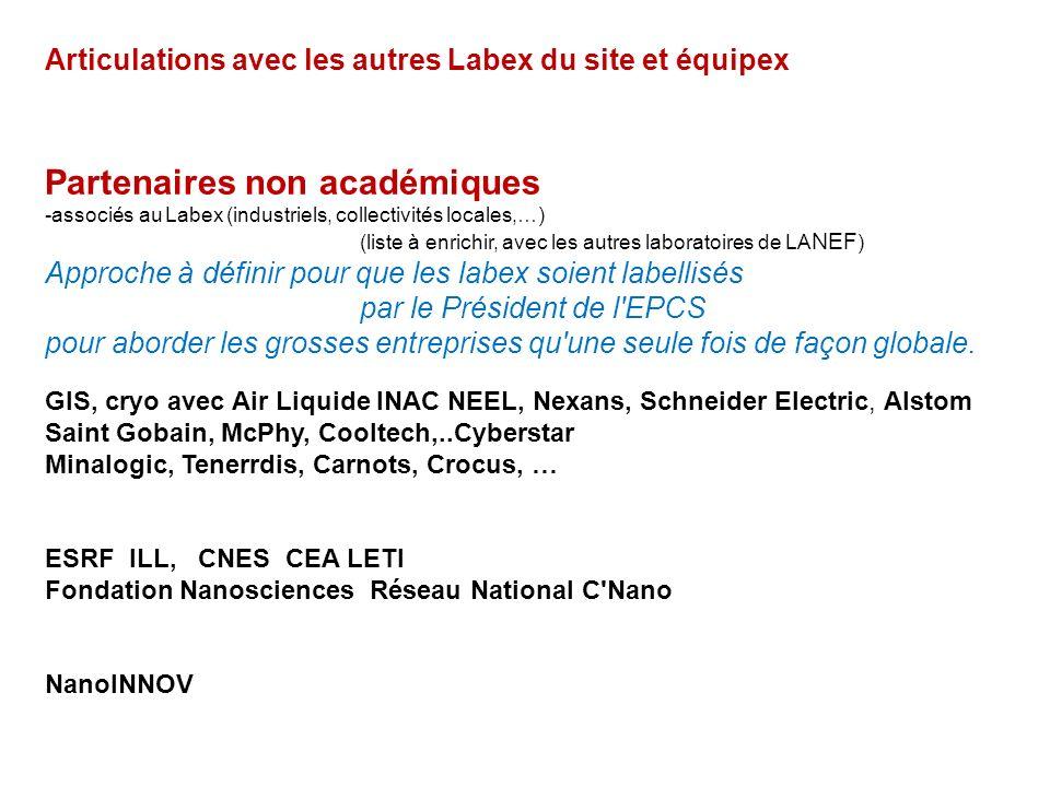 Intitulé LABEX: LA NEF : Laboratoire d'Alliances Nanoscience-Energies du Futur Périmètre dExcellence du Labex (unités et équipes): NEEL/INAC/LNCMI/CRE