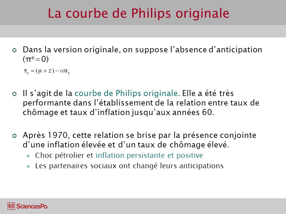 Linflation en France (1902-2007) Inflation persistante et constamment positive.
