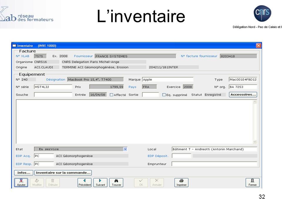 32 Linventaire