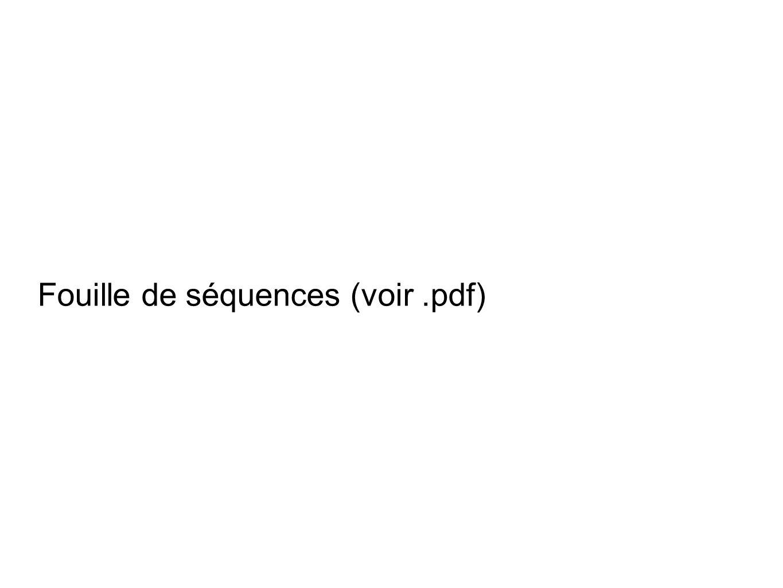 Fouille de séquences (voir.pdf)