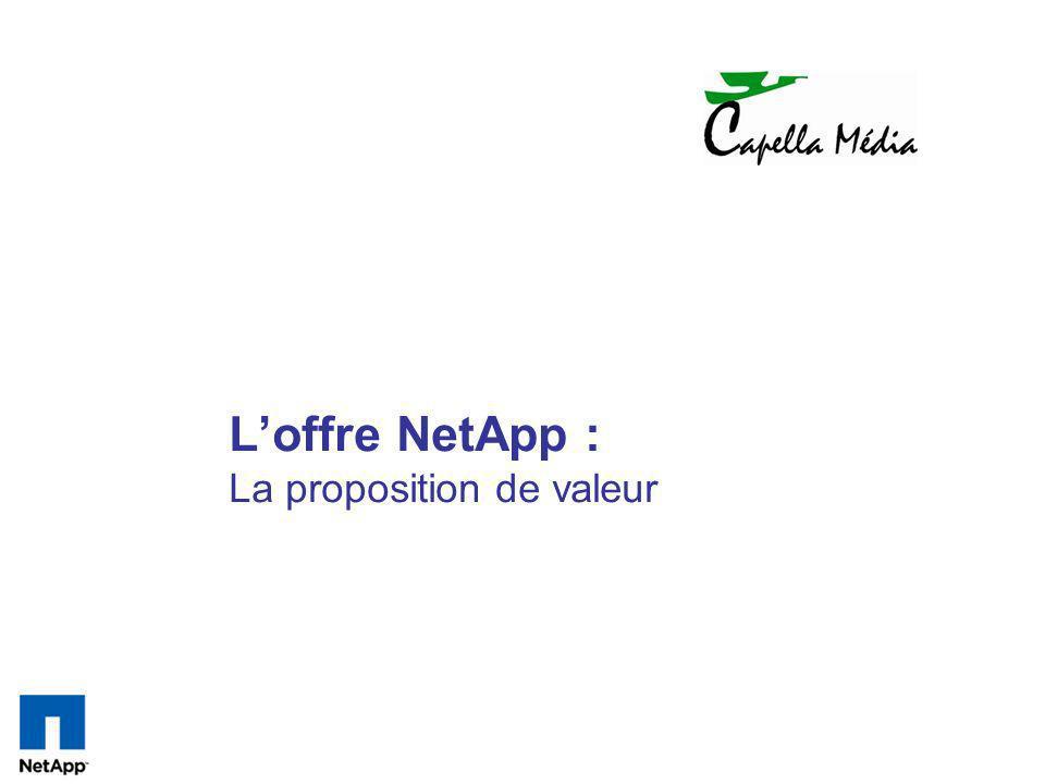 Loffre NetApp : La proposition de valeur