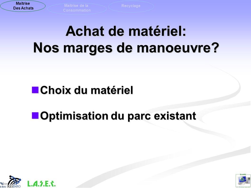 Choisir son matériel : Ecolabels .