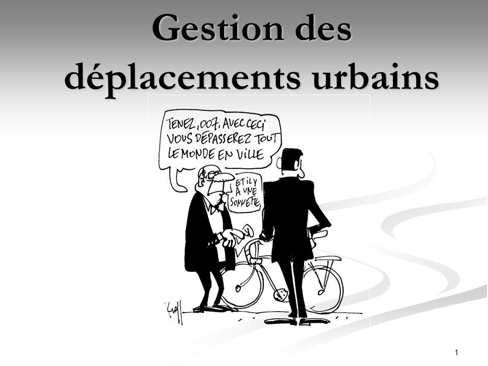 2Introduction Depuis plusieurs années, la logique de déplacement des personnes a été de développé les réseaux afin de permettre au plus grand nombre de se déplacer plus facilement en zone urbaine.