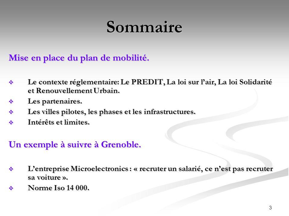 4 Le PREDIT Le Predit (Programme de Recherche et DInnovation dans les Transports).