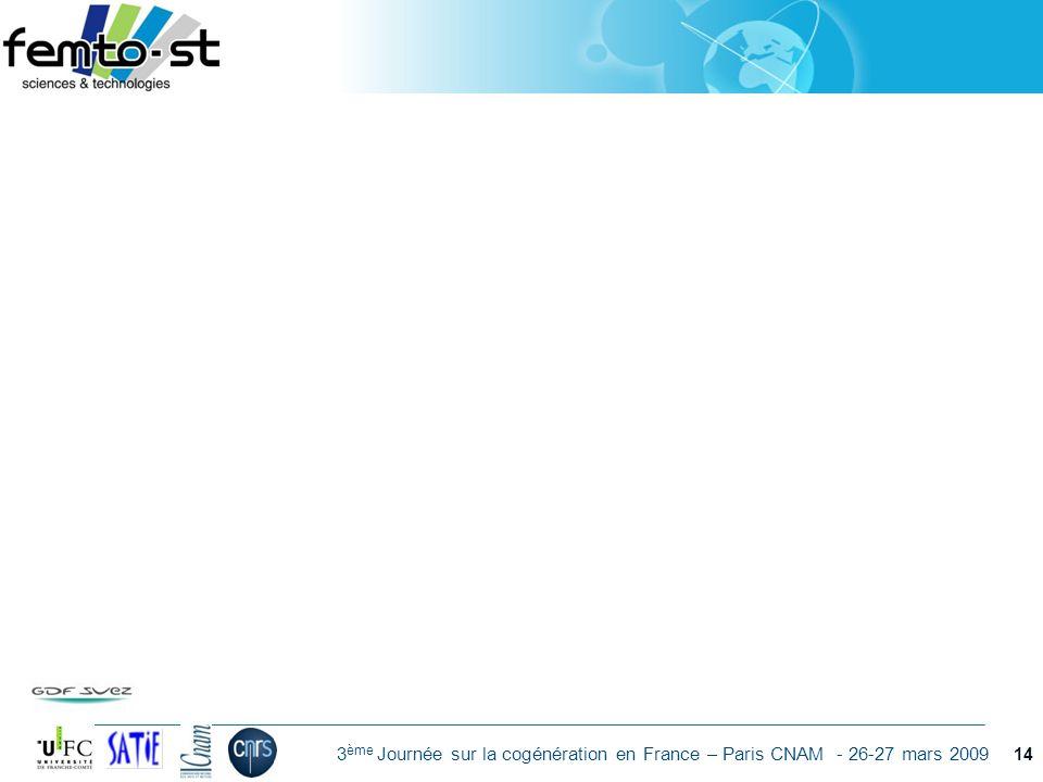Événement - date 3 ème Journée sur la cogénération en France – Paris CNAM - 26-27 mars 2009 14