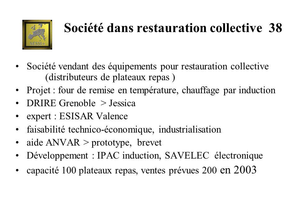 Société dans restauration collective 38 Société vendant des équipements pour restauration collective (distributeurs de plateaux repas ) Projet : four