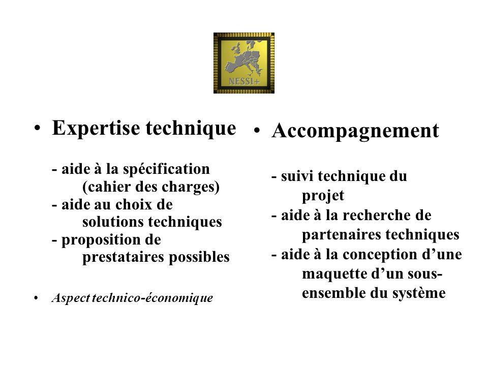 Expertise technique - aide à la spécification (cahier des charges) - aide au choix de solutions techniques - proposition de prestataires possibles Asp