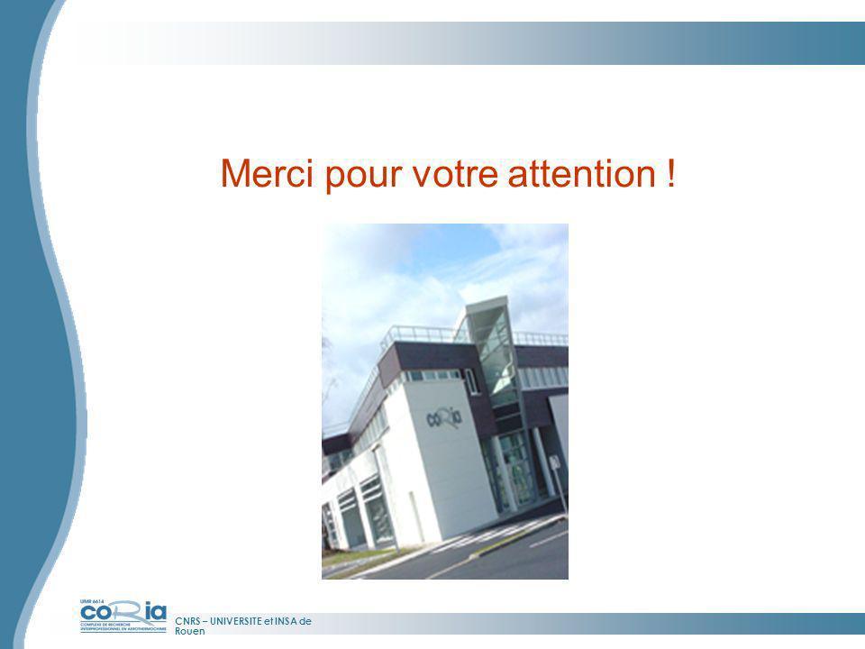CNRS – UNIVERSITE et INSA de Rouen Merci pour votre attention !