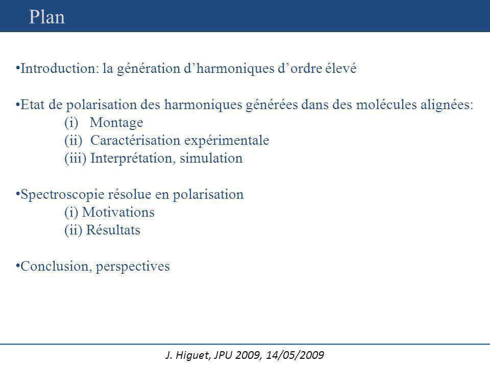 J.Higuet, JPU 2009, 14/05/2009 CELIA: équipe Harmoniques et Applications E.