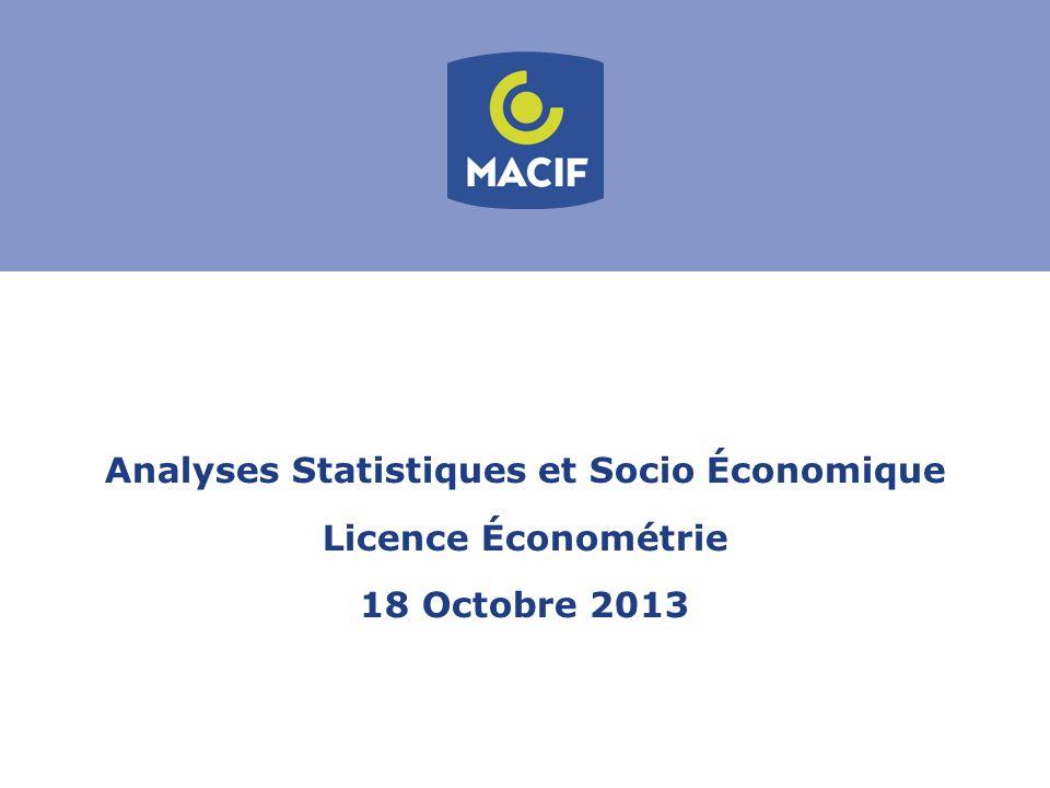 Analyses Statistiques et Socio Économique Licence Économétrie 18 Octobre 2013