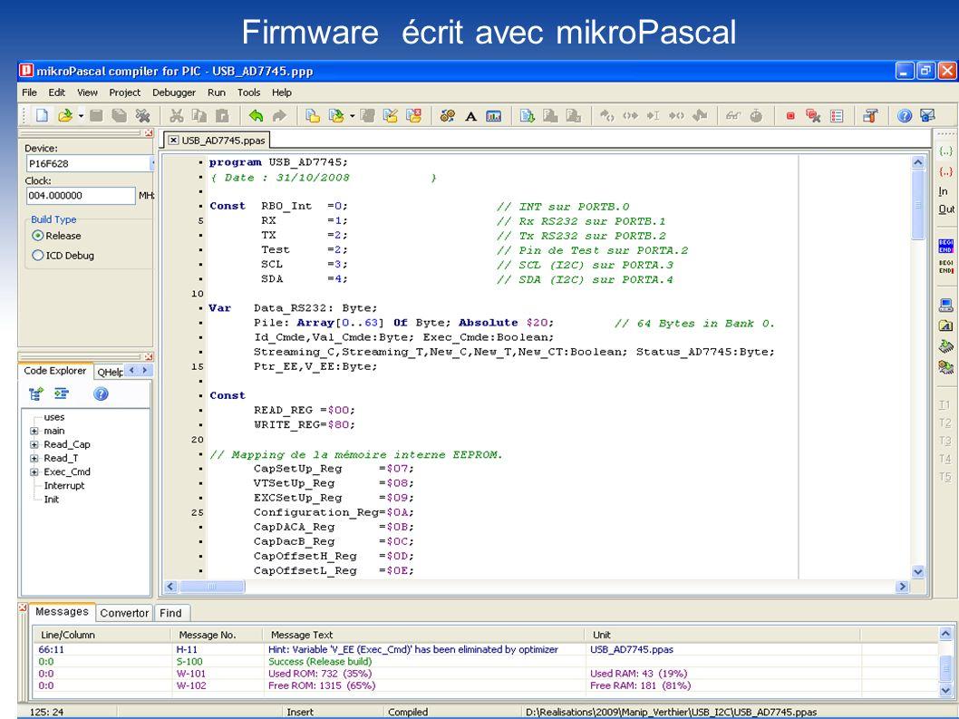 Firmware écrit avec mikroPascal