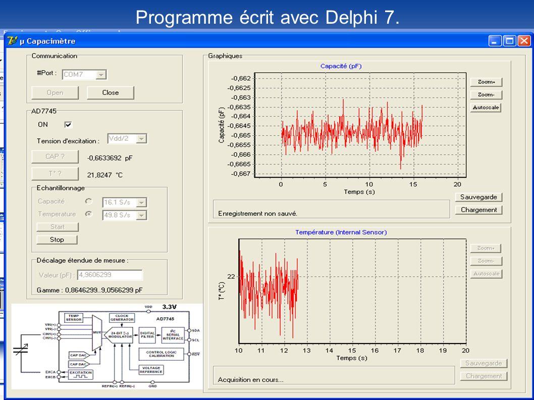 Programme écrit avec Delphi 7.