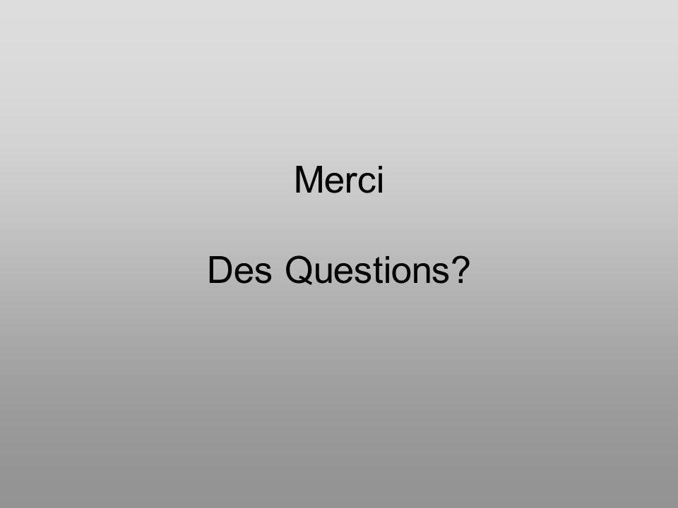 Merci Des Questions?
