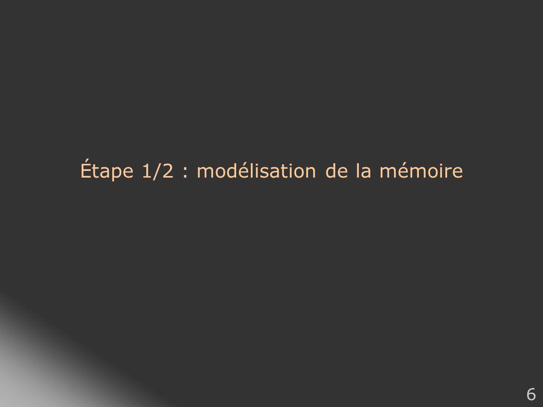 6 Étape 1/2 : modélisation de la mémoire