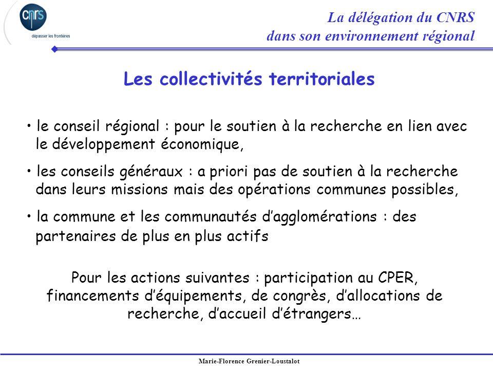 Marie-Florence Grenier-Loustalot le conseil régional : pour le soutien à la recherche en lien avec le développement économique, les conseils généraux