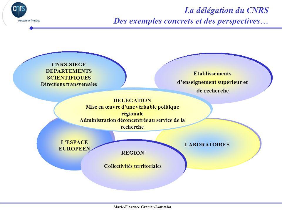 Marie-Florence Grenier-Loustalot LABORATOIRES L'ESPACE EUROPEEN L'ESPACE EUROPEEN CNRS-SIEGE DEPARTEMENTS SCIENTIFIQUES Directions transversales CNRS-
