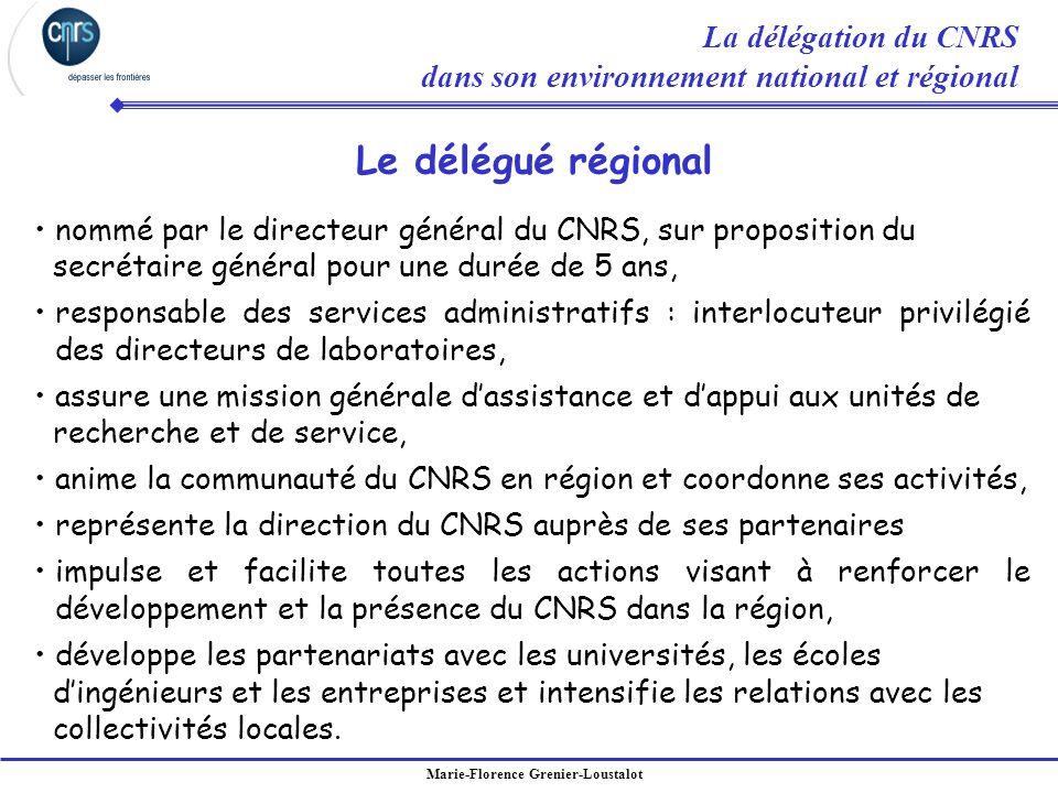 Marie-Florence Grenier-Loustalot nommé par le directeur général du CNRS, sur proposition du secrétaire général pour une durée de 5 ans, responsable de
