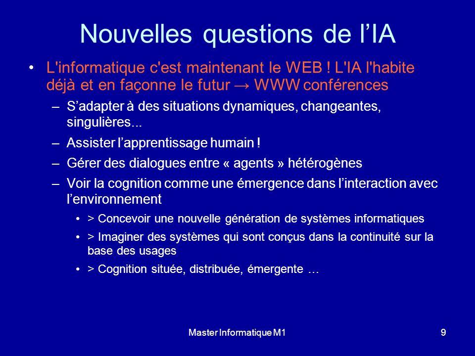 Master Informatique M19 Nouvelles questions de lIA L'informatique c'est maintenant le WEB ! L'IA l'habite déjà et en façonne le futur WWW conférences