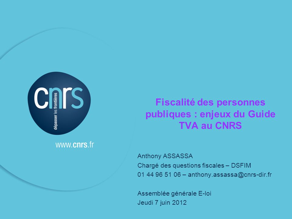 P.12 Une adaptation fiscale délicate : lexemple de la TVA La TVA : comment çà fonctionne .