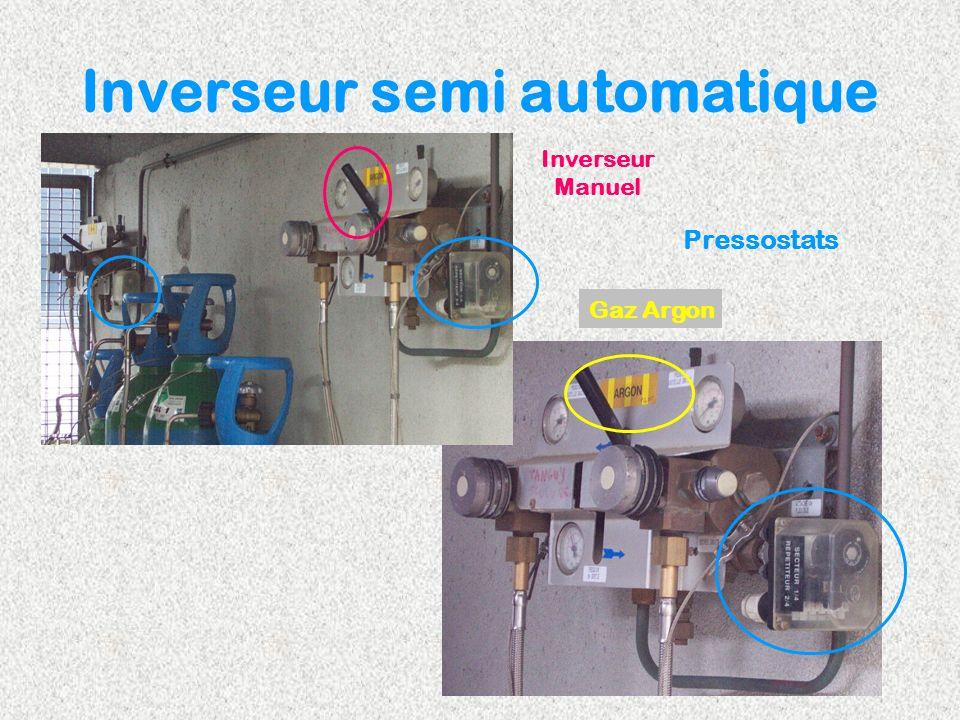 Inverseur semi automatique Pressostats Inverseur Manuel Gaz Argon