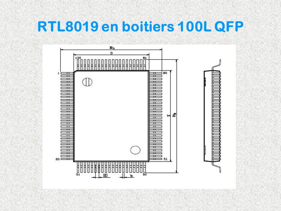 RTL8019 en boitiers 100L QFP