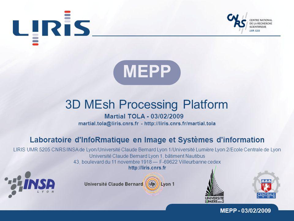 martial.tola@liris.cnrs.fr - http://liris.cnrs.fr/martial.tola Laboratoire d'InfoRmatique en Image et Systèmes d'information LIRIS UMR 5205 CNRS/INSA