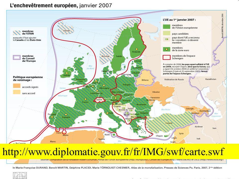 61 26 ème et 27 ème pays membre 1 er janvier 2007 : 6 ème élargissement à la Bulgarie et la Roumanie
