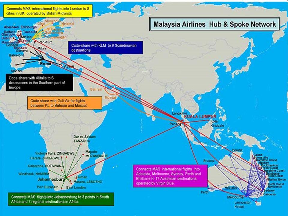 66 Cette nouvelle configuration fait penser aux réseaux daéroports (hubs and spokes) Les hubs peuvent être : –Un pays, par exemple les Etats-Unis ou S