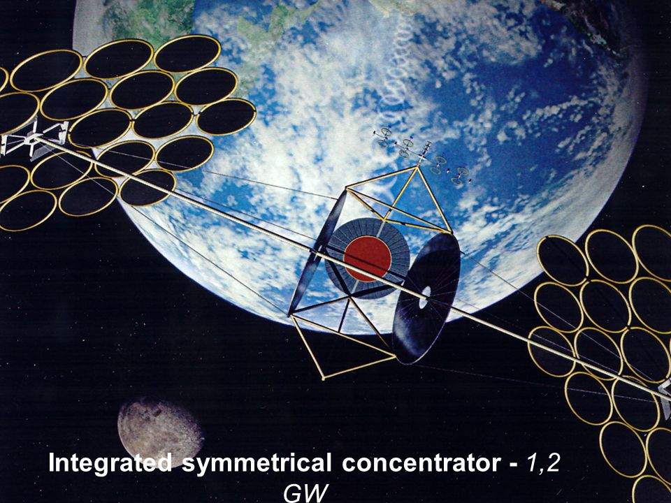 Integrated symmetrical concentrator - 1,2 GW