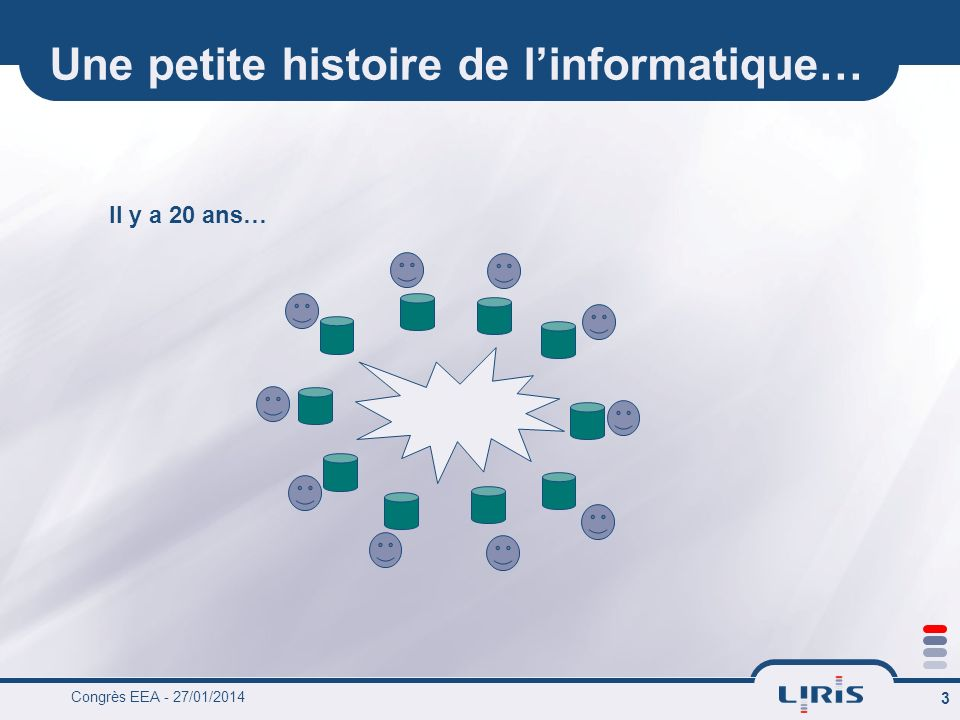 Congrès EEA - 27/01/2014 3 Une petite histoire de linformatique… Il y a 20 ans…