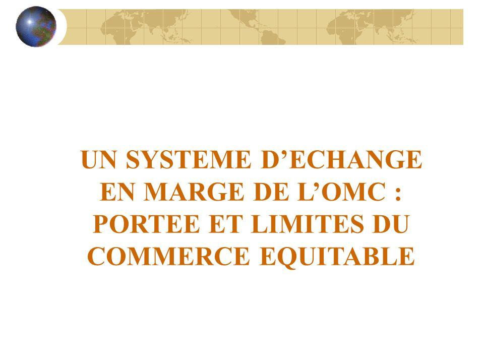 UN SYSTEME DECHANGE EN MARGE DE LOMC : PORTEE ET LIMITES DU COMMERCE EQUITABLE