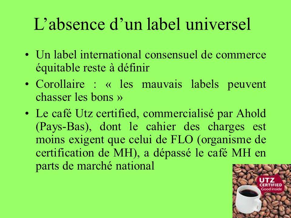 68 Labsence dun label universel Un label international consensuel de commerce équitable reste à définir Corollaire : « les mauvais labels peuvent chas
