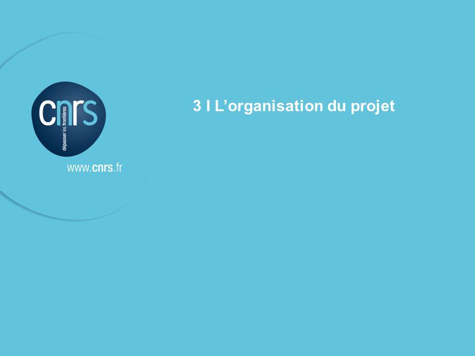 l Le contrat cadre de service & les contrats de service CNRS – présentation aux unités contrat de service du 10 mars 2009 P. 10 3 I Lorganisation du p