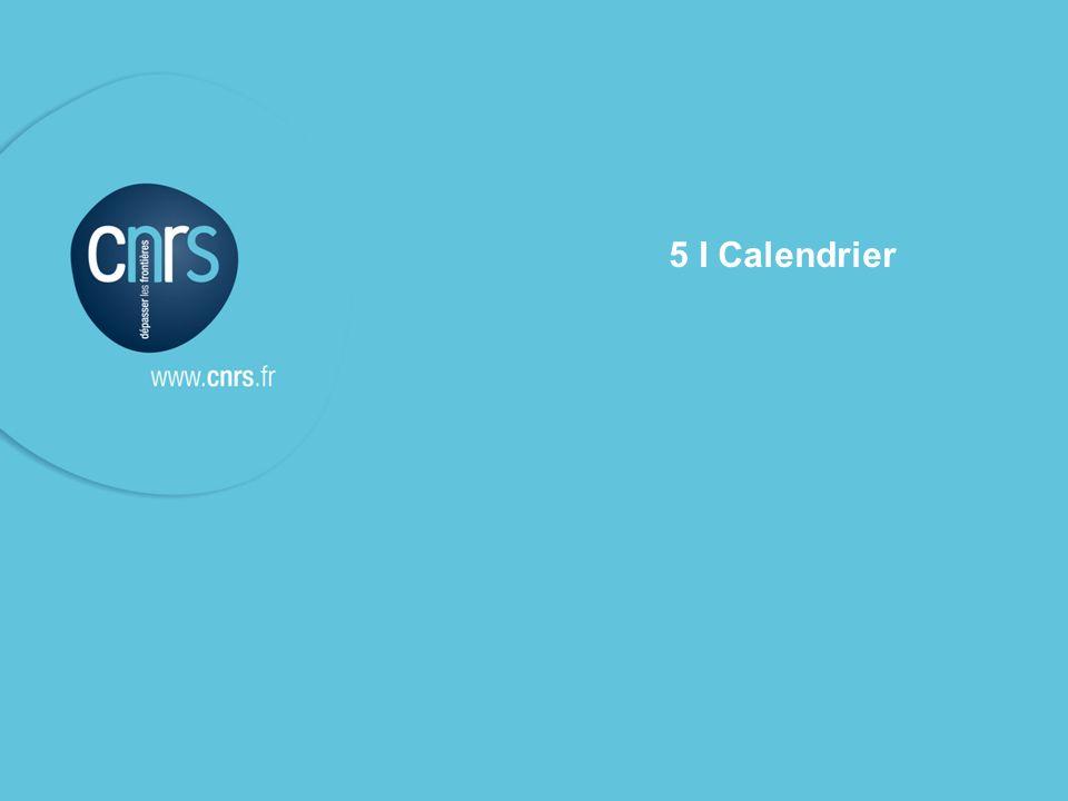 l Le contrat cadre de service & les contrats de service CNRS – présentation aux unités contrat de service du 10 mars 2009 P. 18 5 I Calendrier