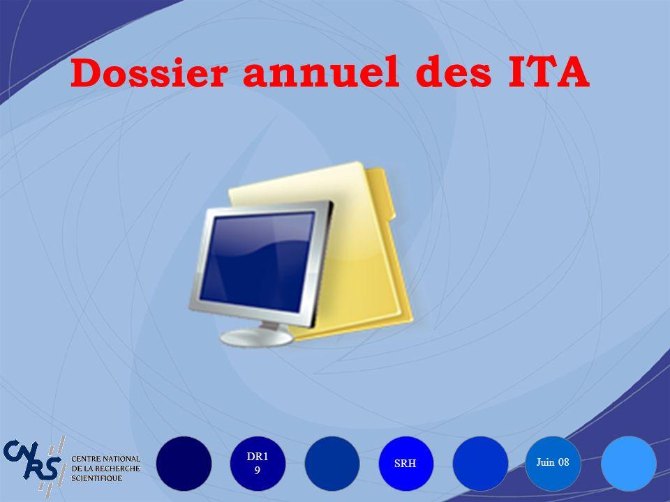 DR1 9 SRH Juin 08 Dossier annuel des ITA