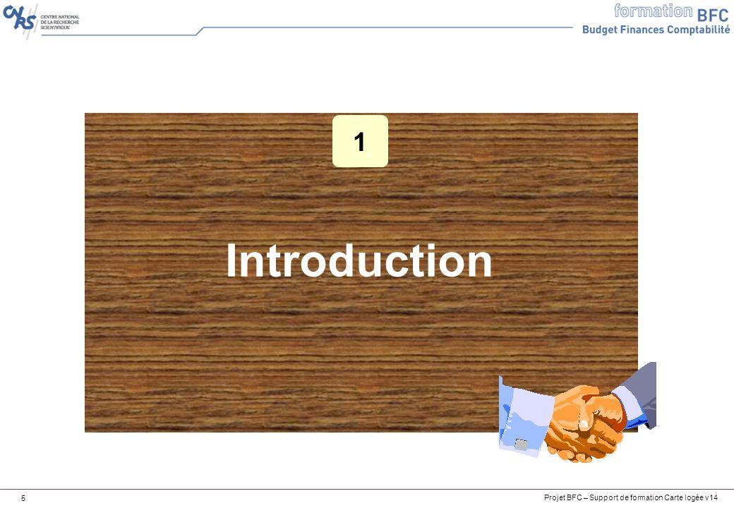 Projet BFC – Support de formation Carte logée v14 6 Introduction Objectifs de cette formation 1.Expliquer le fonctionnement du flux dépenses carte logée 2.Analyser les erreurs dintégration du relevé carte logée (ROP) 3.Compléter les factures/avoirs carte logée pour permettre leur intégration dans BFC A la fin de ce cours, vous serez en mesure de :