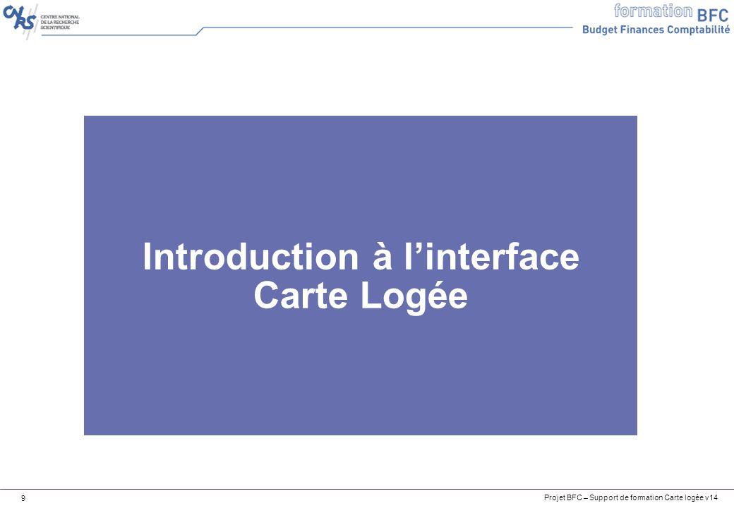 Projet BFC – Support de formation Carte logée v14 40 BW Suivi du Flux Facture Carte Logée