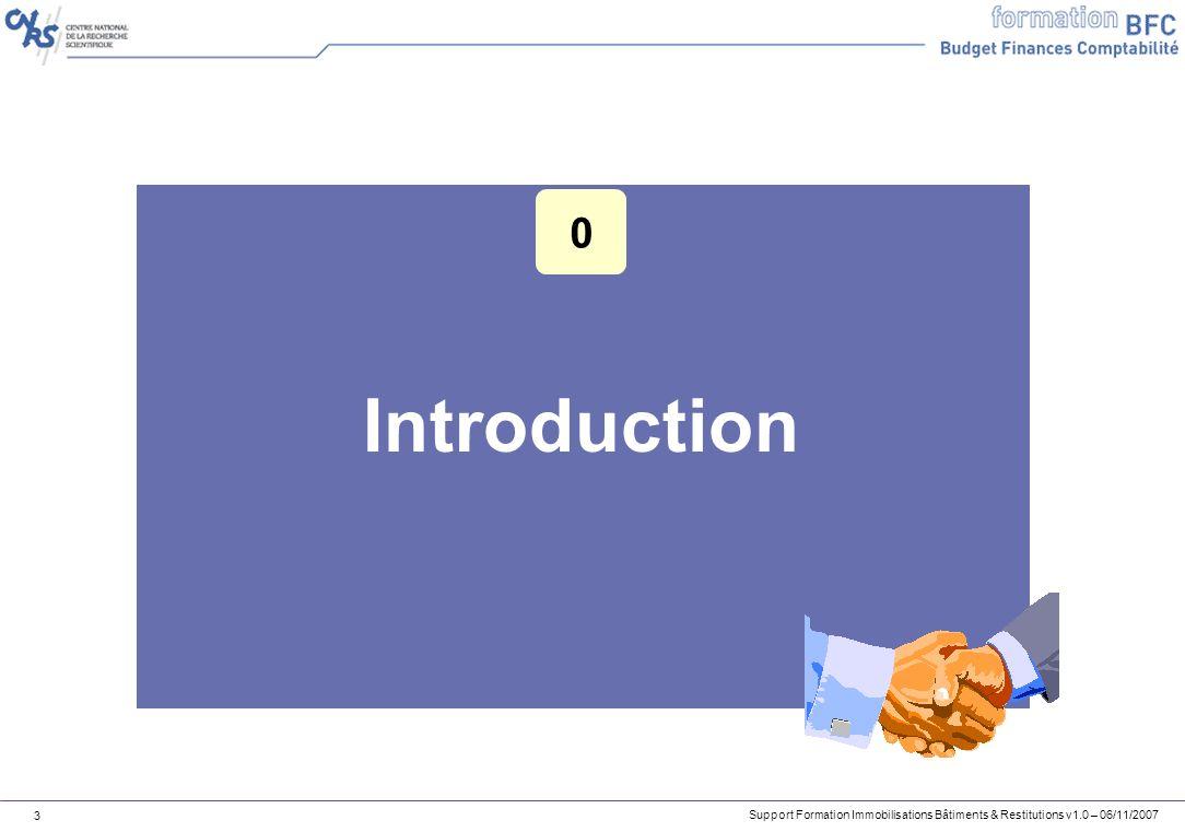 Support Formation Immobilisations Bâtiments & Restitutions v1.0 – 06/11/2007 54 Contrôle de lexhaustivité des entrées et des sorties Le code mouvement permet de sélectionner le type dentrée ou de sortie.