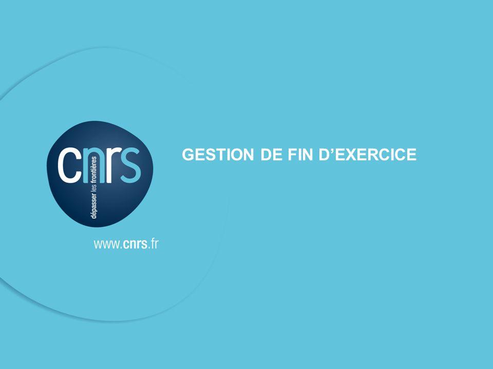 SFC - DR12 - 21 novembre 201125 GESTION DE FIN DEXERCICE