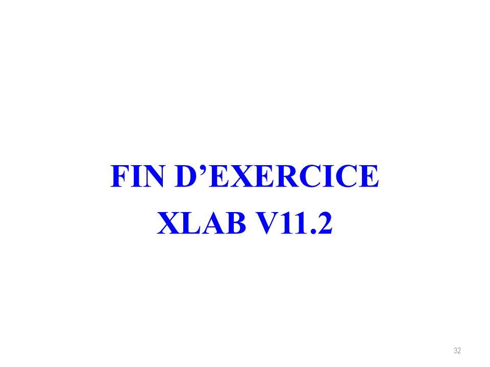 32 FIN DEXERCICE XLAB V11.2