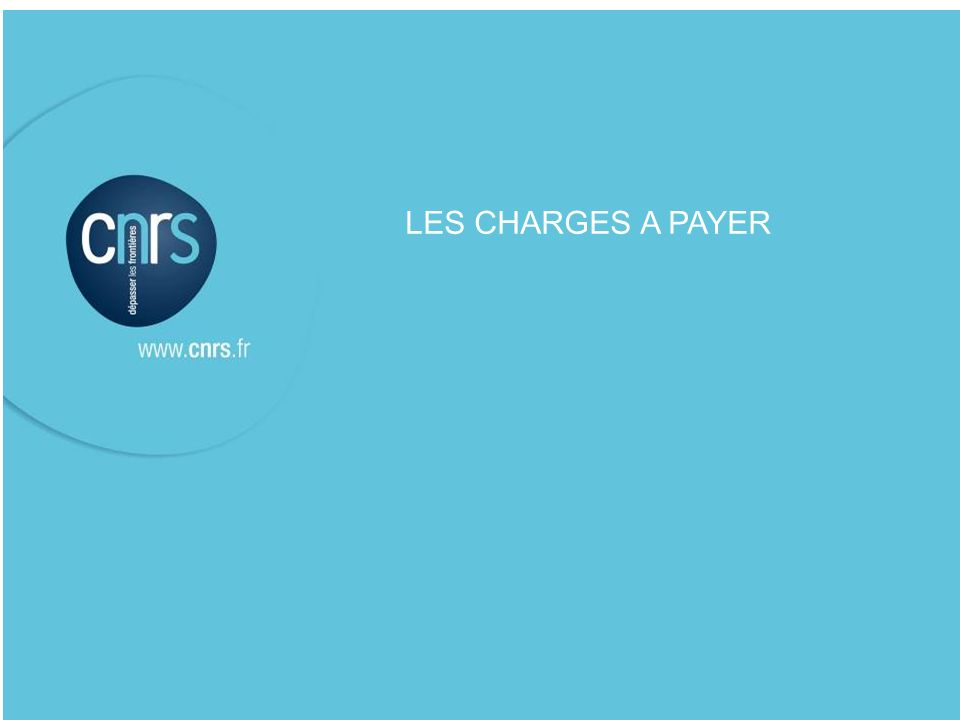 LES CHARGES A PAYER